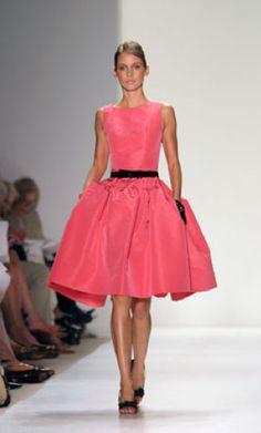 Oscar De La Renta pink taffeta dress