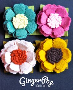 Frilly Poppy Headband  Choose One of Four by GingerpopBoutique, $10.00