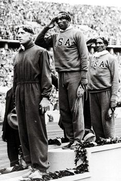 100 metres medallists at the 1936 Berlin Olympic games left to right Martinus Osendarp of Holland Jesse Owens of the USA and Ralph Metcalf also of. Berlin Olympics, Jesse Owens, Long Jump, African Diaspora, Summer Olympics, Interesting History, African American History, Black History Month, Track And Field