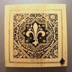"New to dustonmyboots on Etsy: City of Delight #2 ""Fleur de France"" Paris photo print gold leaf fleur de lys tack and beeswax on wood block (75.00 CAD)"