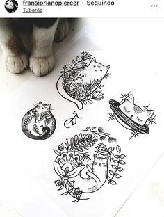 Tatuagens da Mariah - tattoo designs ideas männer männer ideen old school quotes sketches Tattoo Drawings, Body Art Tattoos, New Tattoos, Girl Tattoos, Sketch Tattoo, Piercing Tattoo, I Tattoo, Piercings, Cute Cat Tattoo