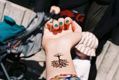 Pretty tree forearm tattoo