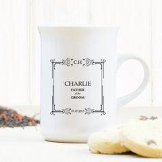Personalised Wedding Windsor Mug - Father of Classic Frame