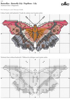 Free patterns for cross stitch, embroidery, knitting and crochet Butterfly Cross Stitch, Cross Stitch Bird, Cross Stitching, Cross Stitch Patterns, Pattern Design, Free Pattern, Cross Stitch Freebies, Cross Stitch Pictures, Crossstitch