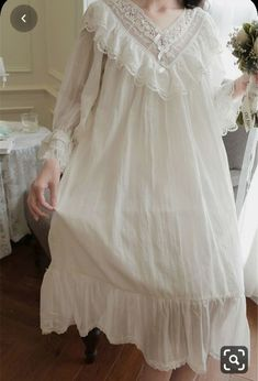 Girls Night Dress, Night Dress For Women, Vintage Dresses, Night Gown Vintage, Vintage Nightgown, Sleepwear Women, Lingerie Collection, Colorful Fashion, Pretty Outfits