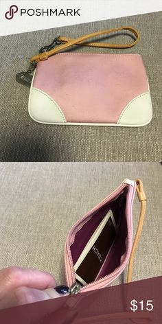 Pink Coach Wristlet Brand New! Cute pink wristlet! NEVER USED!! Coach Bags Clutches & Wristlets