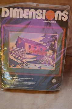 VTG NEW Dimensions Needlepoint Kit Covered Bridge pure wool Made and Printed USA. Starting at $20