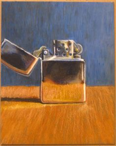 Oil Pastel Art – A Zippo Lighter     -Eric D. Greene