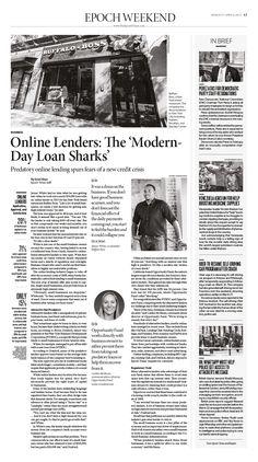 Online Lenders: The 'Modern-Day Loan Sharks'|Epoch Times #newspaper #editorialdesign