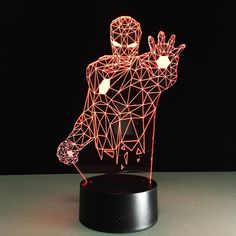 Color Changing 2017 remote Avengers Mavel lamp LED Night Light IRON MAN illusion night lamp table desk lamp home lighting home office idea -- AliExpress Affiliate's Pin. Read more at the image link. Lampe Led, Led Lamp, Led Light Store, Avengers Party Decorations, Iron Man, Turn The Lights Off, Decorating With Christmas Lights, Christmas Decor, Led Night Light