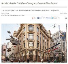 Cai Guo-Qiang - Da Vincis do Povo (até 23 de junho). Veículo: Metrópolis - Tv Cultura. Data: 07/05/2013. Clique na imagem para ver a matéria completa.