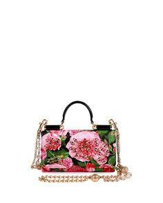 V31L2 Dolce & Gabbana Miss Sicily Rose Crossbody iPhone Wallet/Case, Pink