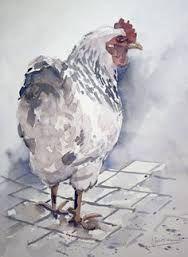 Afbeeldingsresultaat voor kippen schilderen