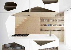 Fantastic Kitchen Layout Designs: Fantastic Kitchen Layout Designs With Unique White Kitchen Island And Wooden Kitchen Cabinets Design ~ watsonrock.com Kitchen Inspiration