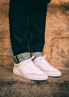Baskets blanches Ascot x Charlie en cuir et daim #chaussures #baskets #blanc #ascot #charlie #cuir #daim #shoes #white #leather #deer Ascot, Sneakers, Converse, Casual, Shoes, Style, Fashion, White Sneakers, Fallow Deer