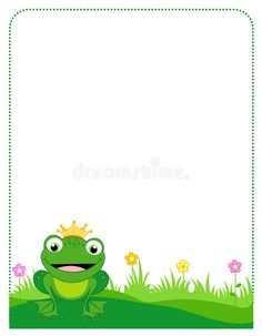 Illustration about Colorful frog prince order / frame on white. Illustration of abstract, cartoon, anatomy - 19549397 Islam For Kids, Frame Clipart, Borders And Frames, Frog And Toad, Butterfly Wallpaper, Writing Paper, Printable Paper, Stationery, Clip Art