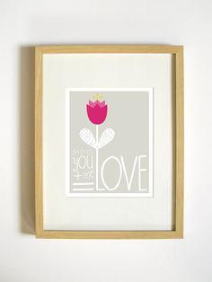 Valentine's Day Custom Art Print by RetroMenagerie on Etsy