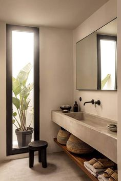 Casa Cook Kos With Greek Architectural Style - Pin Coffee - Casa Cook Kos With Greek Architectural Style – Pin Coffee Casa Cook Kos With Greek Architectural Style – – Bad Inspiration, Bathroom Inspiration, Modern Bathroom Design, Bathroom Interior Design, Bathroom Designs, Minimal Bathroom, Interior Modern, Bath Design, Modern Luxury Bathroom