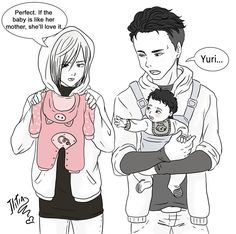 When yuri lat yurio go shoping for yuri's chuld Anime Dad, Manga Anime, Anime Pregnant, Victor Y Yuri, Base Anime, Yurio And Otabek, Anime Bebe, Mpreg Anime, Yuri Katsuki