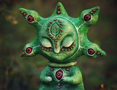 Marvellous Handmade Alien Doll by Mariana Kopylova. |funpalstudio| animal art artist artwork beautiful color creativity design doll entertainment illustration sculptures toys