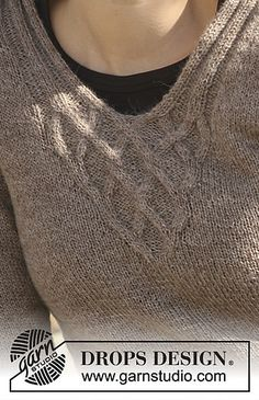 Ravelry: 114-8 Jumper with cables pattern by DROPS design