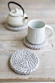 Baby Crafts, Fun Crafts, Diy And Crafts, Coaster Design, Textile Texture, Creative Crafts, Handicraft, Decoration, Sewing Crafts