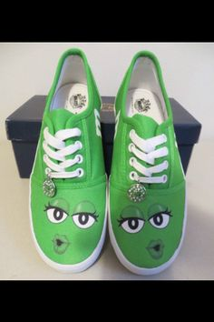 Green M & M's Shoes