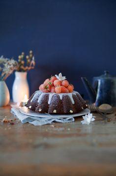 Gâteau chocolat/framboises (ou morceaux de pommes revenus ds un peu de beurre et de sucre )