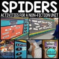 Spiders Activities: NonFiction Unit -Reading Writing Science Research Vocabulary Spiders: A Jam-Packed science and literacy unit with so many spider activities. This Spider Packet is a Comprehensive Integrated Unit Grades {science & language arts} . Word Study Activities, Science Resources, Science Ideas, Teaching Science, Halloween Science, Halloween Activities, Halloween Fun, Informational Writing, Nonfiction