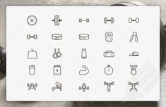 Lifting Vector Icons These 25 Medialoot vector icons are perfect for any olympic weightlifting, powerlifting, bodybuilding or weight training based projects. Included are glyphs for barbells, dumbbells, various gym equipment and popular lifts. Do you even?