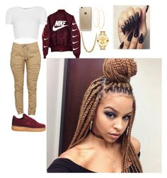 """""""Untitled #172"""" by bbysixteen on Polyvore featuring Lana, Topshop, NIKE, Rifle Paper Co and Movado"""