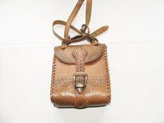 Vintage genuine leather brown/tan satchel bag. by Fabvintage1