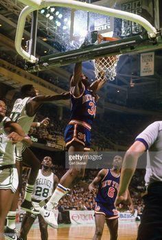 New York Knicks Bernard King (30) in action, dunk vs Boston Celtics at Boston Garden. Game 5.Boston, MA 4/29/1984CREDIT: Carl Skalak