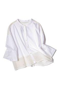 pattern_1 White Tops, Style Me, Minimal, Ruffle Blouse, Tunic, Embroidery, Knitting, Lady, Womens Fashion