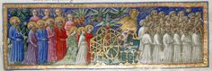 (12) Twitter the heavenly procession from Dante's Divine Comedy c1450