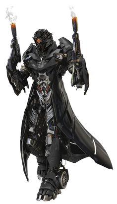 Quickdraw (TLK Custom) by Barricade24 Fantasy Character Design, Character Design Inspiration, Character Art, Robot Concept Art, Armor Concept, Cyberpunk Character, Cyberpunk Art, Fantasy Armor, Dark Fantasy Art