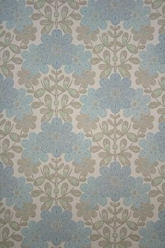 Original Vintage Floral Wallpaper