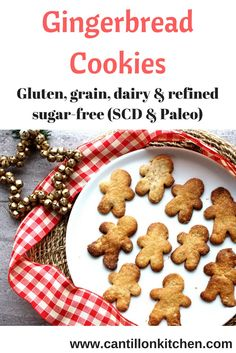 christmas-treats-grain-free-gingerbread-cookies Gingerbread Man, Gingerbread Cookies, Grain Free, Dairy Free, Ginger And Honey, Baking With Kids, Egg Free, Christmas Treats, Thanksgiving Recipes