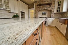 Leathered Antique Brown Granite and River Valley Granite Vienna VA