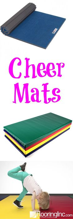 Practice your tumbling, cheer, martial arts and more with your very own Cheer Mat! Cheer Coaches, Cheer Stunts, Cheer Mom, Cheerleading, Cheer Athletics, Volleyball, Home Gym Flooring, Soft Flooring, Flooring Ideas