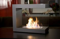 Glass Enclosed Gas Fireplace
