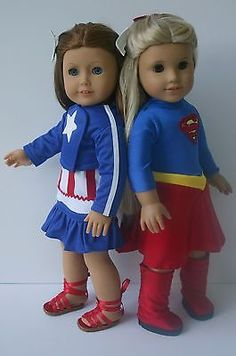 Supergirl and Captain America collection to fit your 18 in American girl doll | Dolls & Bears, Dolls, Clothes & Accessories | eBay!