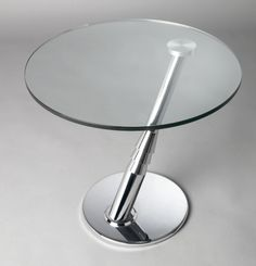 8160 Round Glass Lamp Table