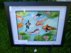 gentle koi pond watercolor print from my by AffordableARTbyRonda