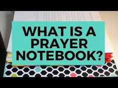 Have you come across the idea of a prayer notebook, but you're just not sure what it is? Then you are in the right spot!