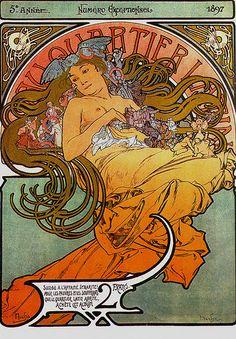 Mucha 1897 Latin Quarter magazine | Flickr - Photo Sharing!