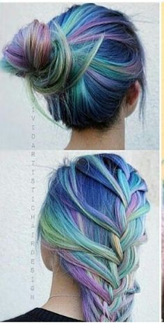 Blue green hair @misstiesa
