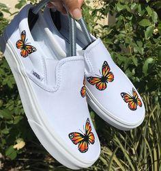 Behind The Scenes By niccustoms Vans Slip On Shoes, Custom Vans Shoes, Custom Painted Shoes, Custom Slip On Vans, Painted Canvas Shoes, Painted Vans, Women's Shoes, Hand Painted, Disney Painted Shoes