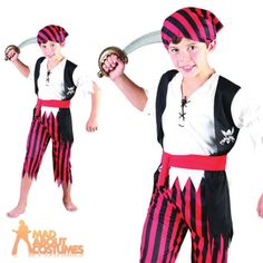 #Child pirate boy jim costume boys caribbean book week day fancy #dress #outfit n,  View more on the LINK: http://www.zeppy.io/product/gb/2/161953135708/