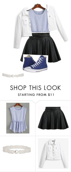 """Business meeting cas"" by ellaheart ❤ liked on Polyvore featuring New Directions, White House Black Market and Converse"
